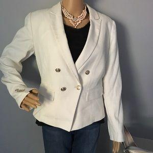 White House Black Market cotton blazer size 10